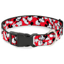 Buckle-Down Mickey Mouse Scattered Plastic Clip Dog Collar (Various Sizes)