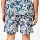 YMC Men's Shaka Swim Shorts - Blue/Cream