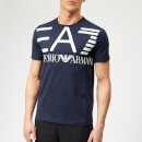 Emporio Armani EA7 Men's Train Logo Series Oversize Logo Short Sleeve T-Shirt - Navy Blue