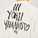 Y-3 Men's Signature Graphic Crew Neck Sweatshirt - Core White