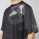 Y-3 Men's All Over Print Football Shirt - Parachute Black AOP