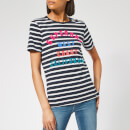 Superdry Women's West Coast Stripe Entry T-Shirt - Rinse Navy/Optic Stripe