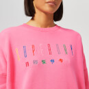 Superdry Women's Carly Carnival Embroidered Crew Sweatshirt - Active Pink