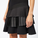 Victoria, Victoria Beckham Women's Asymmetric Pleat Dress - Black