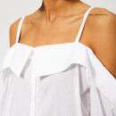 Victoria, Victoria Beckham Women's Off Shoulder Shirt - White