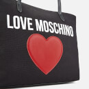 Love Moschino Women's Canvas Heart Logo Tote Bag - Black