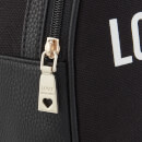 Love Moschino Women's Canvas Heart Logo Backpack - Black