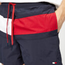 Tommy Hilfiger Men's Flag Medium Drawstring Swim Shorts - Navy Blazer