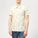 Maison Kitsuné Men's All-Over Scooter Shorts Sleeves Shirt - Multi Print