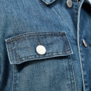 Maison Kitsuné Men's Denim Worker Jacket - Bleach