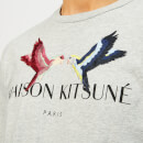 Maison Kitsuné Men's Lovebird T-Shirt - Light Grey Melange