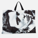 Eastpak X Raf Simons Men's Poster Tote Bag - Silver Satin