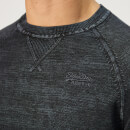 Superdry Men's Garment Dyed La Crew Knit - Navy Washed Thunder