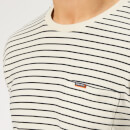 Superdry Men's Stripe Long Sleeve Top - Off White/Navy
