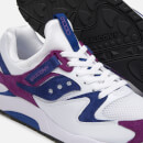 Saucony Men's Grid 9000 Trainers - White/Purple