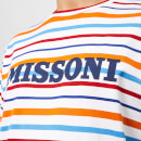 Missoni Men's Logo Stripe T-Shirt - White/Multi Stripe