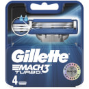 Mach3 Turbo Razor Blades for Men - 4 Count