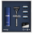 Mach3 3 Blade Razor Gift Pack with Shaving Gel and Razor Stand