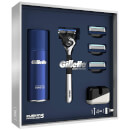 Fusion5 ProGlide Razor with Shaving Gel, 3 Extra Blades and Stand