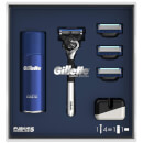 Fusion5 ProGlide 5 Blade Razor with Shaving Gel, 3 Extra Blades and Stand