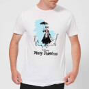 Mary Poppins Rooftop Landing Men's T-Shirt - White