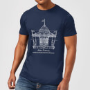 Mary Poppins Carousel Sketch Men's T-Shirt - Navy