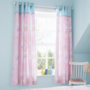Catherine Lansfield Llama-Corn Easy Care Curtains - Pink 66 x 72""