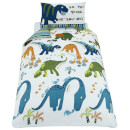 Catherine Lansfield Dino-Saw Easy Care Single Duvet Set