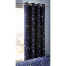 Catherine Lansfield Happy Space Easy Care Curtains - Navy 66 x 72""