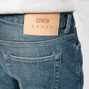 Edwin Men's ED-80 Slim Tapered Red Listed Selvedge Denim Jeans - Mission Wash