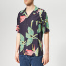 Edwin Men's Resort Short Sleeve Shirt - Ebony Birds Of Paradise