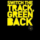 Danger Mouse Switch The Track Green Back Women's Sweatshirt - Black