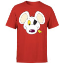 Danger Mouse Face & Logo Men's T-Shirt - Red