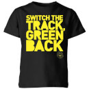 Danger Mouse Switch The Track Green Back Kids' T-Shirt - Black
