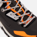 Lanvin Men's Reflective Nappa and Suede Runners - Dark Grey/Black