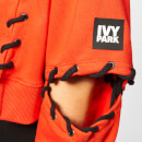 Ivy Park Women's Craft Lace Up Hoodie - Fiery Red