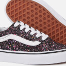 Vans Kids' Glitter Stars Old Skool Trainers - Black/True White