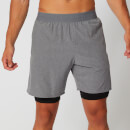 MP Men's Power Double-Layered Shorts - Grey
