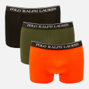 Polo Ralph Lauren Men's 3 Pack Classic Trunk Boxer Shorts - Black/Spanish Olive/Orange