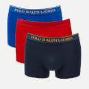 Polo Ralph Lauren Men's 3 Pack Classic Trunk Boxer Shorts - Rl Red/Sapphire Star/Navy