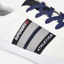 Superdry Men's Vintage Court Trainers - Optic White/Dark Navy/State Red