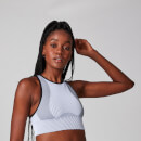 Contrast Seamless Sports Bra - White - XS
