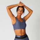 Myprotein Metallic Asymmetric Sports Bra - Navy - XS