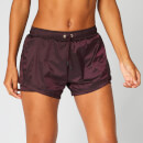 MP Metallic Double Layer Shorts - Malbec - XS
