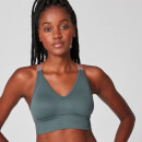 Luxe Seamless Sports Bra - Grey - XS
