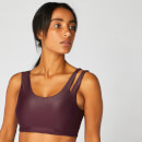 MP Women's Metallic Asymmetric Sports Bra - Malbec