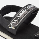 TOMS Women's Ray Vegan Double Strap Sandals - Black Ripstock