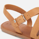 TOMS Women's Sicily Leather Strappy Sandals - Natural