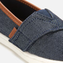 TOMS Toddlers' Alpargata Vegan Slip-On Pumps - Heavy Denim