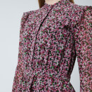MICHAEL MICHAEL KORS Women's Floral Shirt Dress - Black/Electric Pink